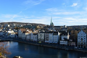 Zurigo, panorama da Lindenhof