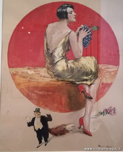 ragazza con grappolo d uva 1919 tempera su carta di lutz ehrenberger magi 900